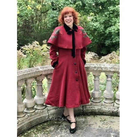 manteau et cape Claudia Rouge bordeaux Collectif - 1