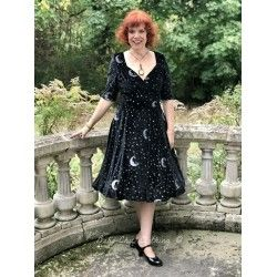 dress Trixie Midnight Moon Velvet Black