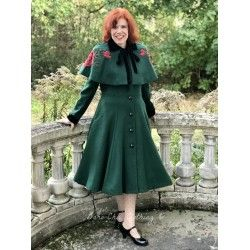coat & cape Claudia Green
