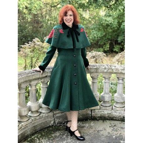 coat & cape Claudia Green