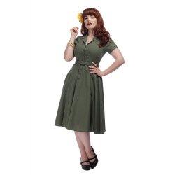 robe Caterina Vert Olive