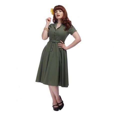 dress Caterina Olive Green