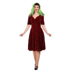 dress Trixie Velvet Sparkle Wine