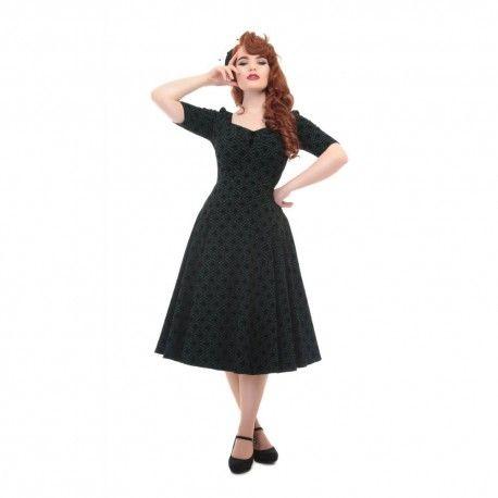dress Dolores Brocade Green