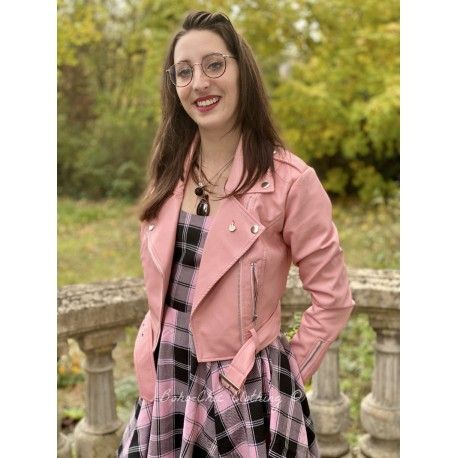 jacket Lana Biker Pink