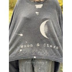 pull / sweat Oversized Hi Lo Moon and Stars Francis in Ozzy