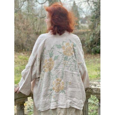 kimono Clodia in Lilac Water Magnolia Pearl - 1
