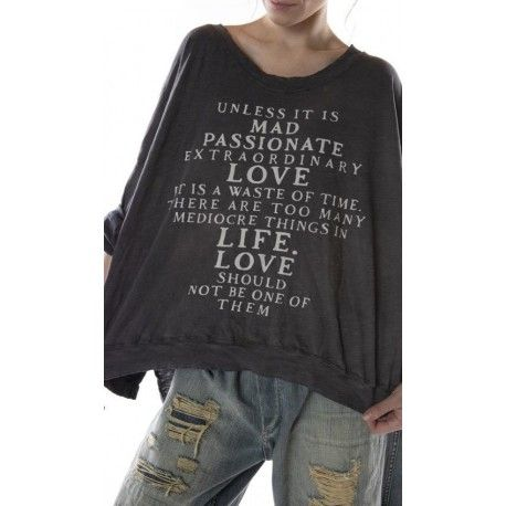 pullover Oversized Hi Lo Mad Love Francis in Ozzy