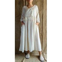 robe CLARA moze écru