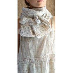 foulard PAULINE flex carreaux bleus