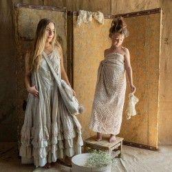 robe CHARLOTTE coton fleurs roses