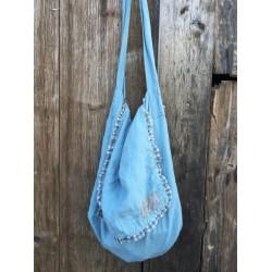 bag MINETTE blue linen