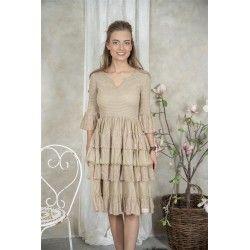 robe Nanna en coton couleur lin