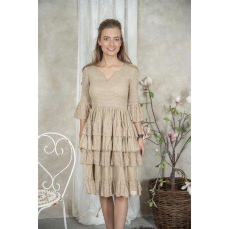 dress Nanna in Linen color cotton