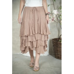 skirt Michella in Delightful plum cotton