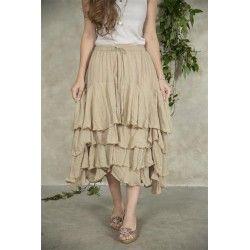 jupe Michella en coton couleur lin