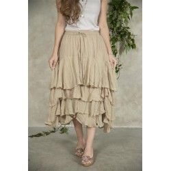 skirt Michella in Linen color cotton