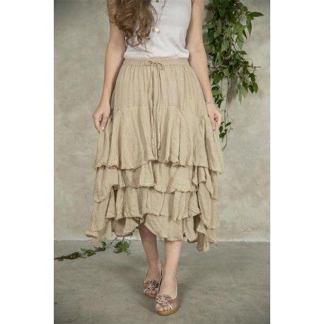 skirt Michella in Linen color cotton