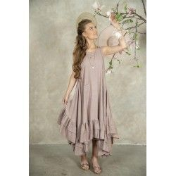 spencer dress Ineke in Delightful plum cotton