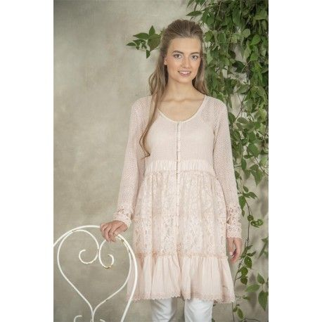 tunic Signe in Pink Cotton