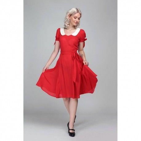 robe Mirella Rouge Collectif - 4