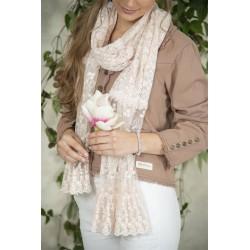 foulard Beatrice en dentelle rose