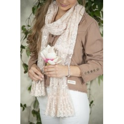 scarf Beatrice in Pink lace