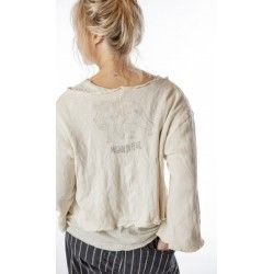 sweatshirt Fenna Cropped in French Vanilla