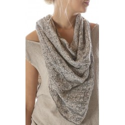 scarf Hand Block Print in Himalaya
