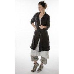 coat Ondra in Midnight Magnolia Pearl - 1