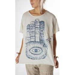T-shirt Henna Eye in Moonlight
