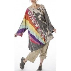 pull / sweat Oversized Rainbow Warrior Francis in Ozzy
