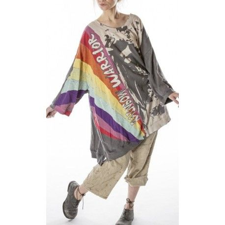 pullover Oversized Rainbow Warrior Francis in Ozzy