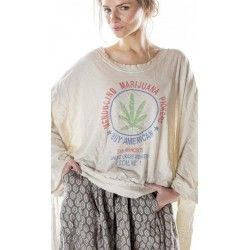 pullover Oversized Hi Lo Medicino Pickers Francis in Moonlight
