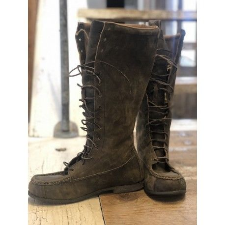 bottes Jackson Lace Up in Weathered