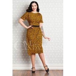 dress Filomena Mustard