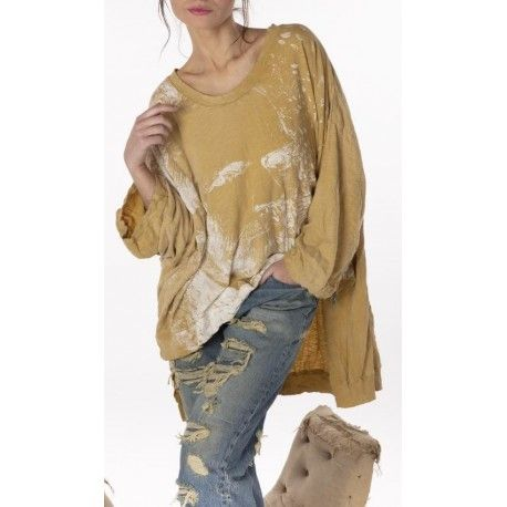 T-shirt Oversized Hi Lo Vincent Pearls Francis in Marigold