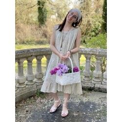 robe LINE voile de coton fleurs bleues