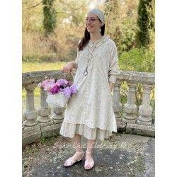 robe NORMA coton fleurs bleues