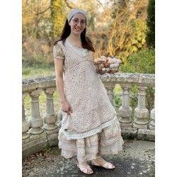 tunique AUDE crochet rose