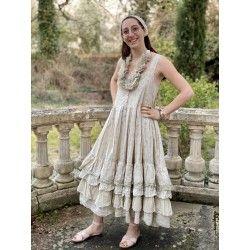 robe CHARLOTTE coton fleurs bleues