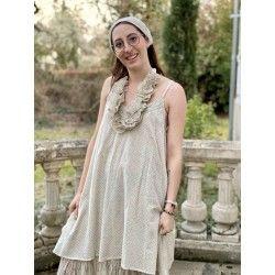 robe LEA voile de coton pois bleus