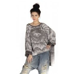 pullover Oversized Hi Lo Freedom Of Conscience Francis in Ozzy
