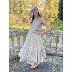 robe LAURE voile de coton fleurs bleues