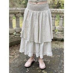 skirt petticoat PALOMA blue checked and ecru flex
