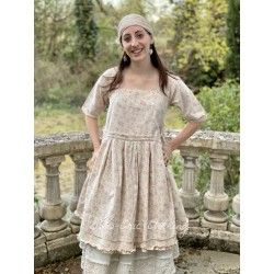dress tunic BLANDINE pink flowers flex