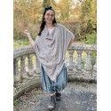 Vneck shawl Handmade Cashmere in Oatmeal