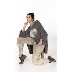 pullover Oversized Moon Hi Lo Francis in Ozzy