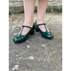 shoes Chrissie Block Heel Green Lulu Hun - 1