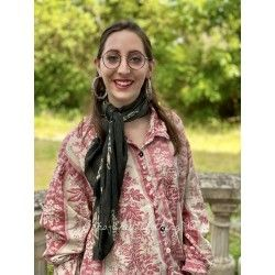 scarf Mayra Petite Floral in Noir